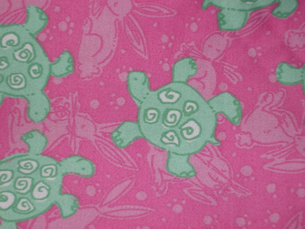 Lilly Pulitzer Cropped Pants Size 14 Pink Green Turtle Bunny #LillyPulitzer #CasualPants