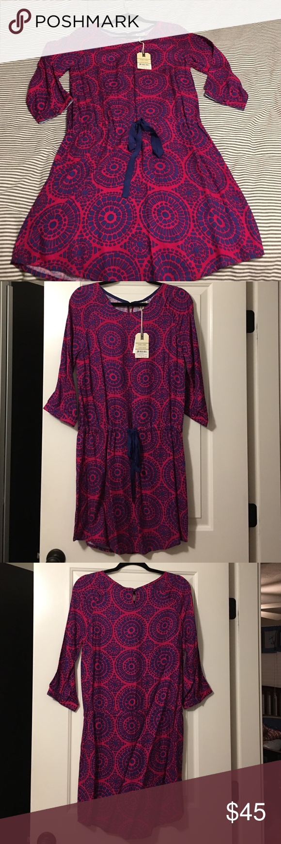 Hatley nwt dress Cute dress cinched at waist never worn, great for a summer evening Hatley Dresses Midi