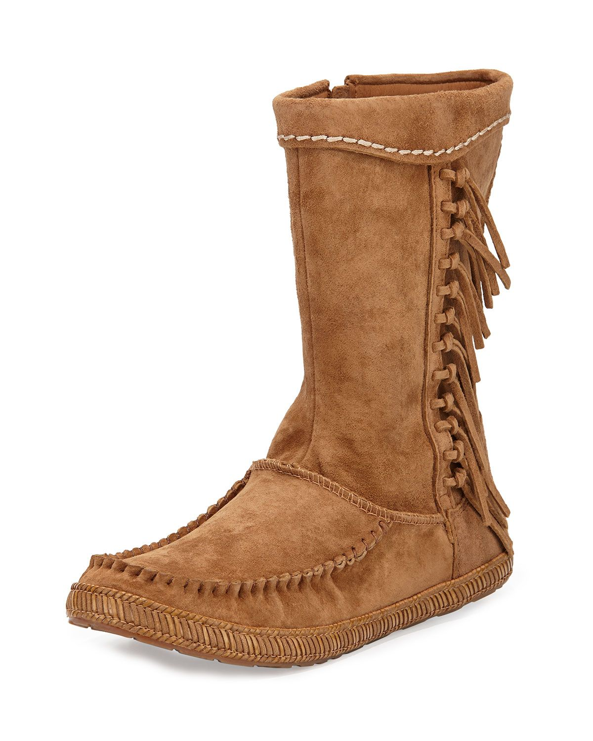 Hyland Mid-Calf Fringe Boot, Chestnut by UGG Australia at Neiman Marcus.