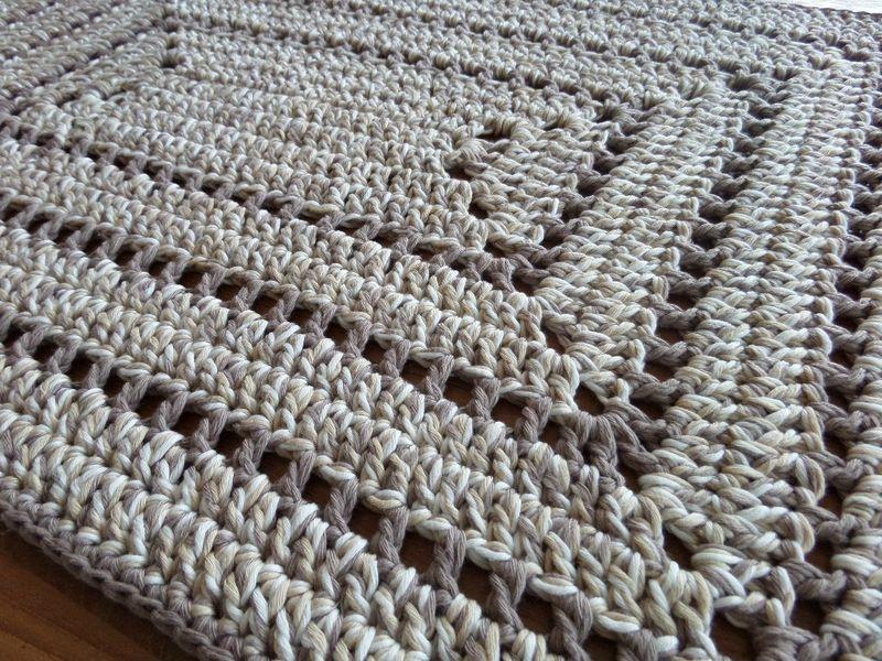 Impressionnant Tapis En Crochet #2: Tapis Drops Rectangulaire Au Crochet Plus