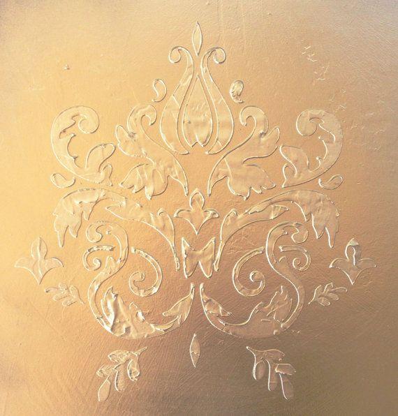 Plaster Stencil Bella Medallion | Plaster molds, Painting stencils ...