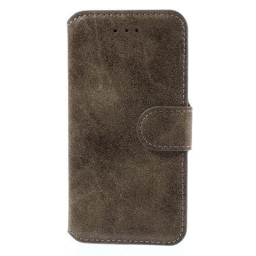 Javu - iPhone 6 Plus Hoesje - Wallet Case Premium Vintage Grijs | Shop4Hoesjes
