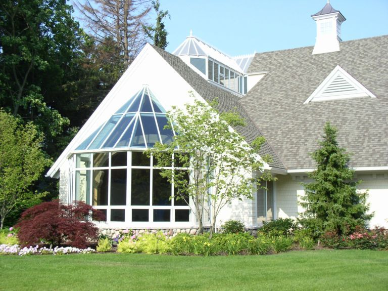 Custom Conservatory With Bay Window Conical Lantern Glass Roof Bay Window Conservatory Roof Glass Roof