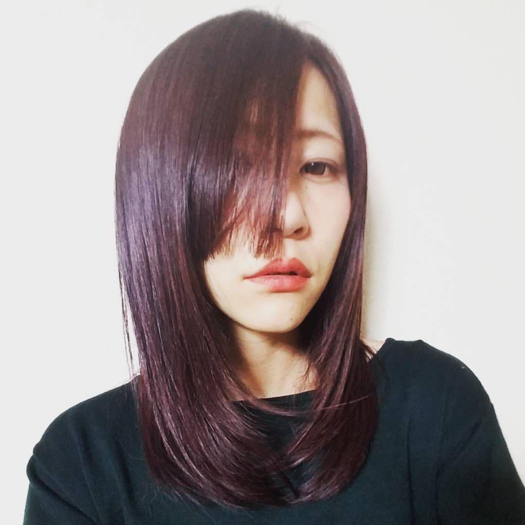 髪染めました ボルドー系ウザバング 秋っぽい Mag ヘアカラー