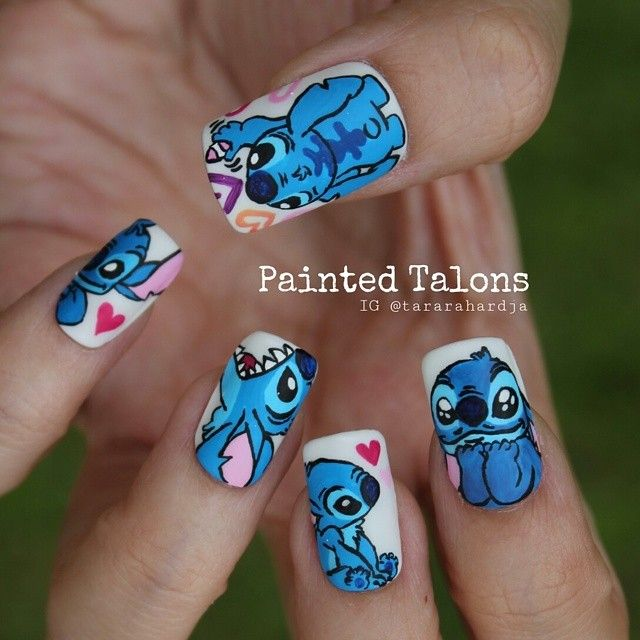 "Nail Art Stitch: Tara Rahardja On Instagram: ""STITCH Love"