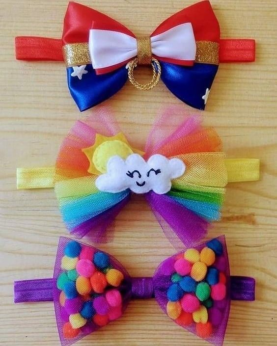 20 Kids Hair Clips DIY To Apply Asap #hairbows  #laços  #bows  #headbands #kidshairaccessories