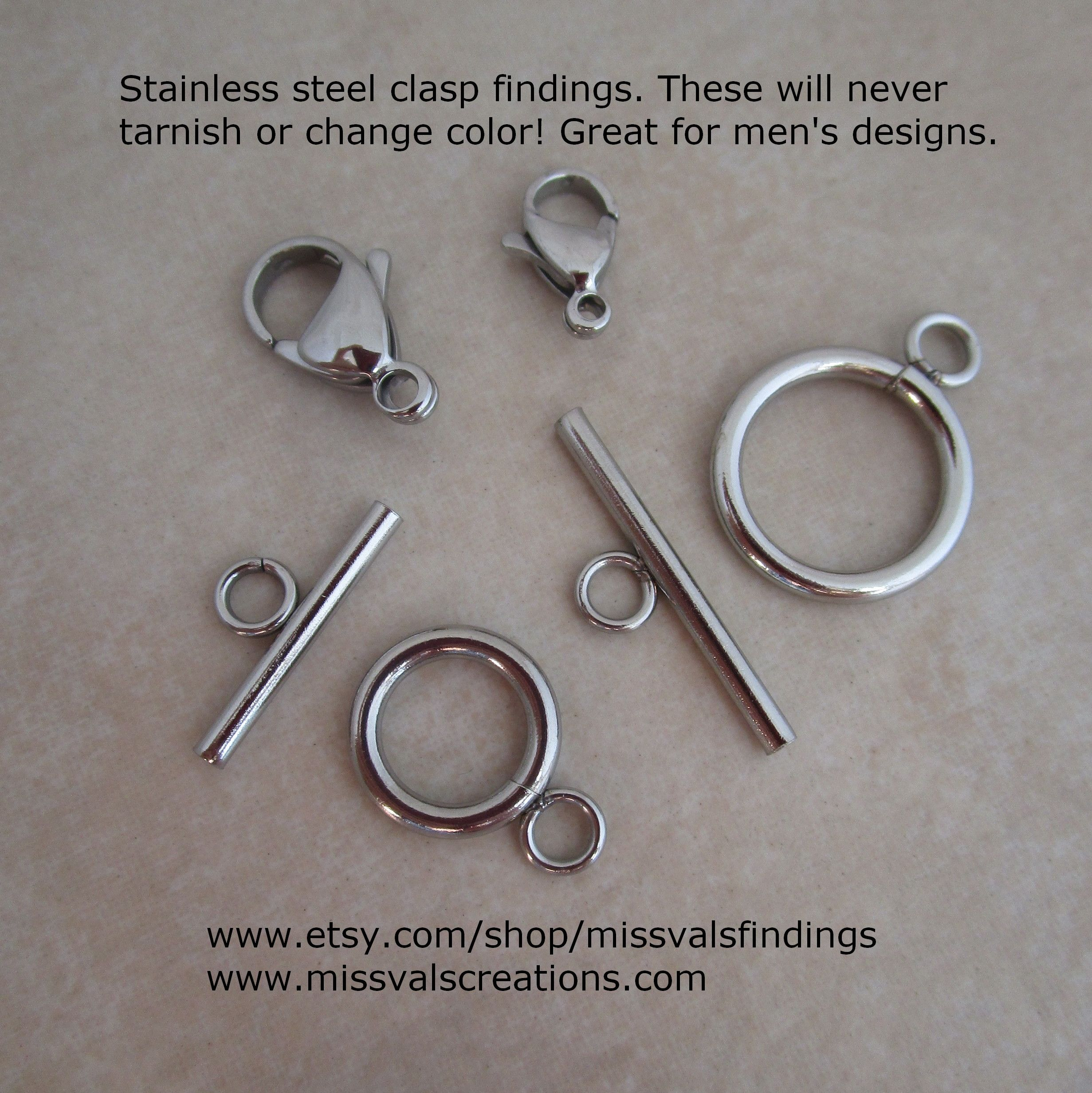 Stainless Steel Clasps These Will Never Tarnish Or Rust Great
