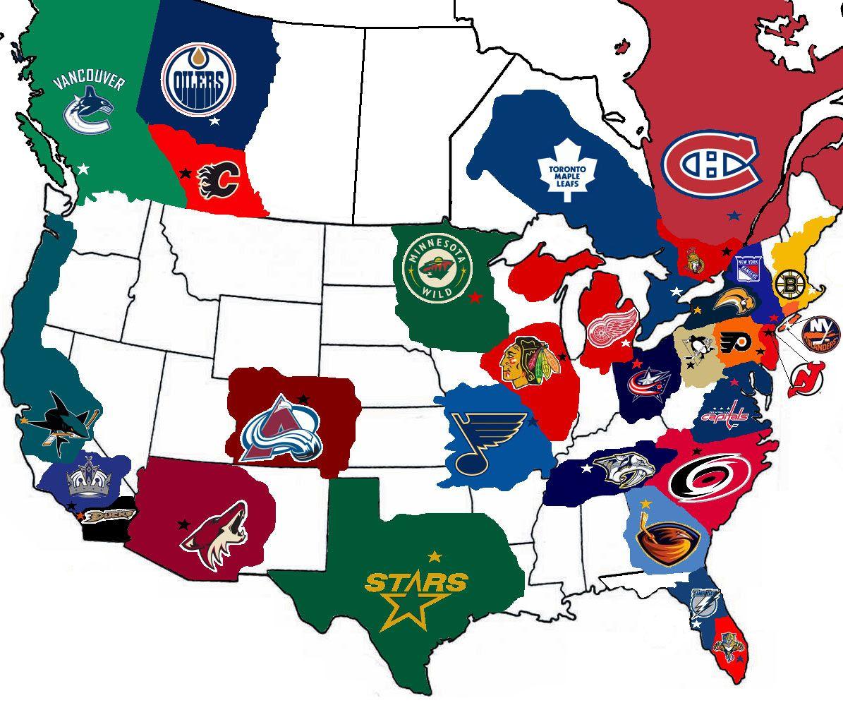 Nhl Map Hockey Blackhawks Hockey Sport Hockey