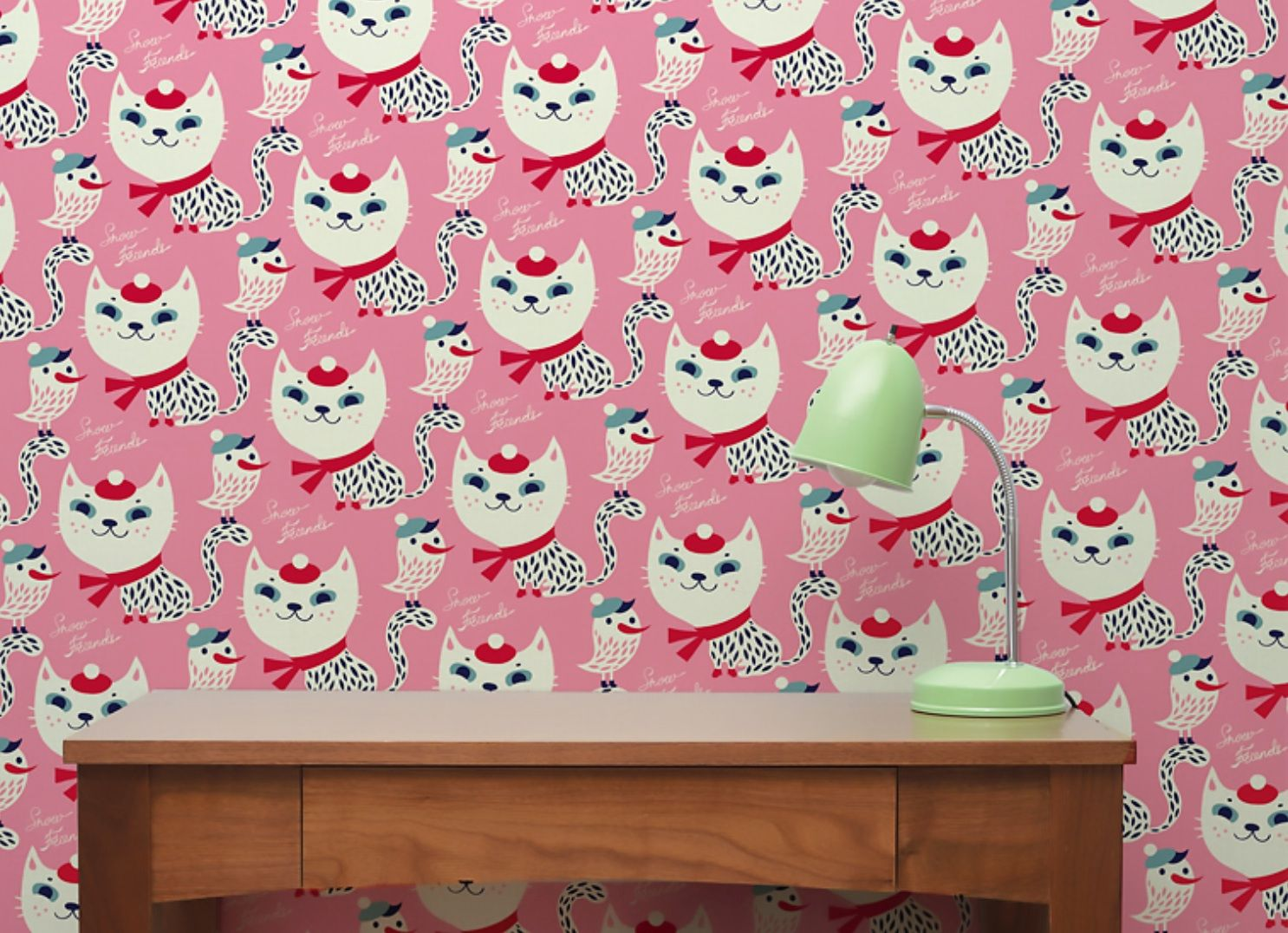 Restickable wallpaper from chispum available at shop.bobokids.co.uk