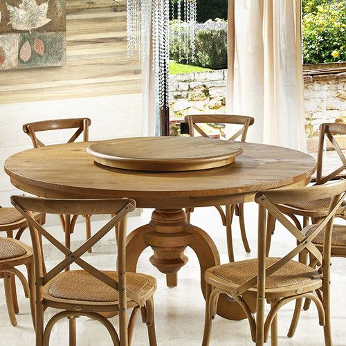 Phil Lazy Susan Round Dining Room Table Round Dining Room Dining Table In Kitchen