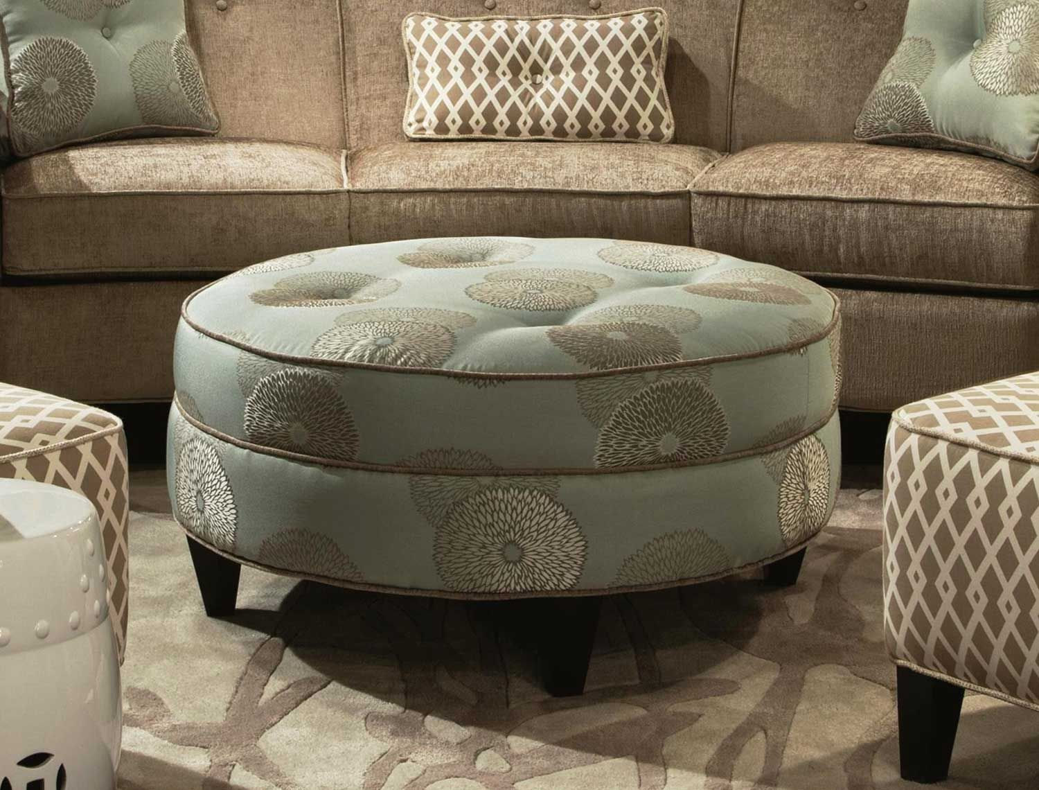 Nice Cocktail Large Ottoman In Round Shape Round Ottoman Coffee