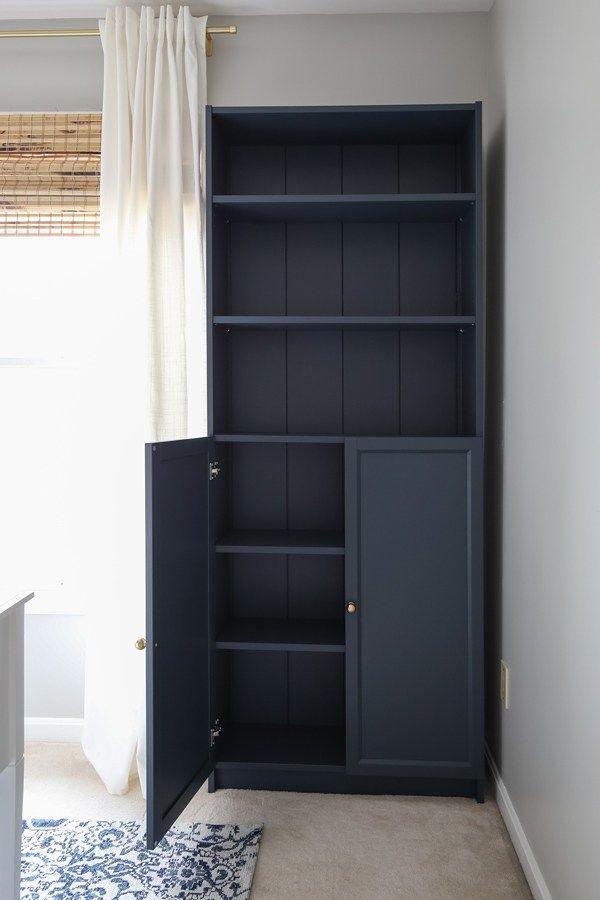 IKEA Billy Bookcase Hack with Shiplap - Angela Marie Made#angela #billy #bookcase #hack #ikea #marie #shiplap
