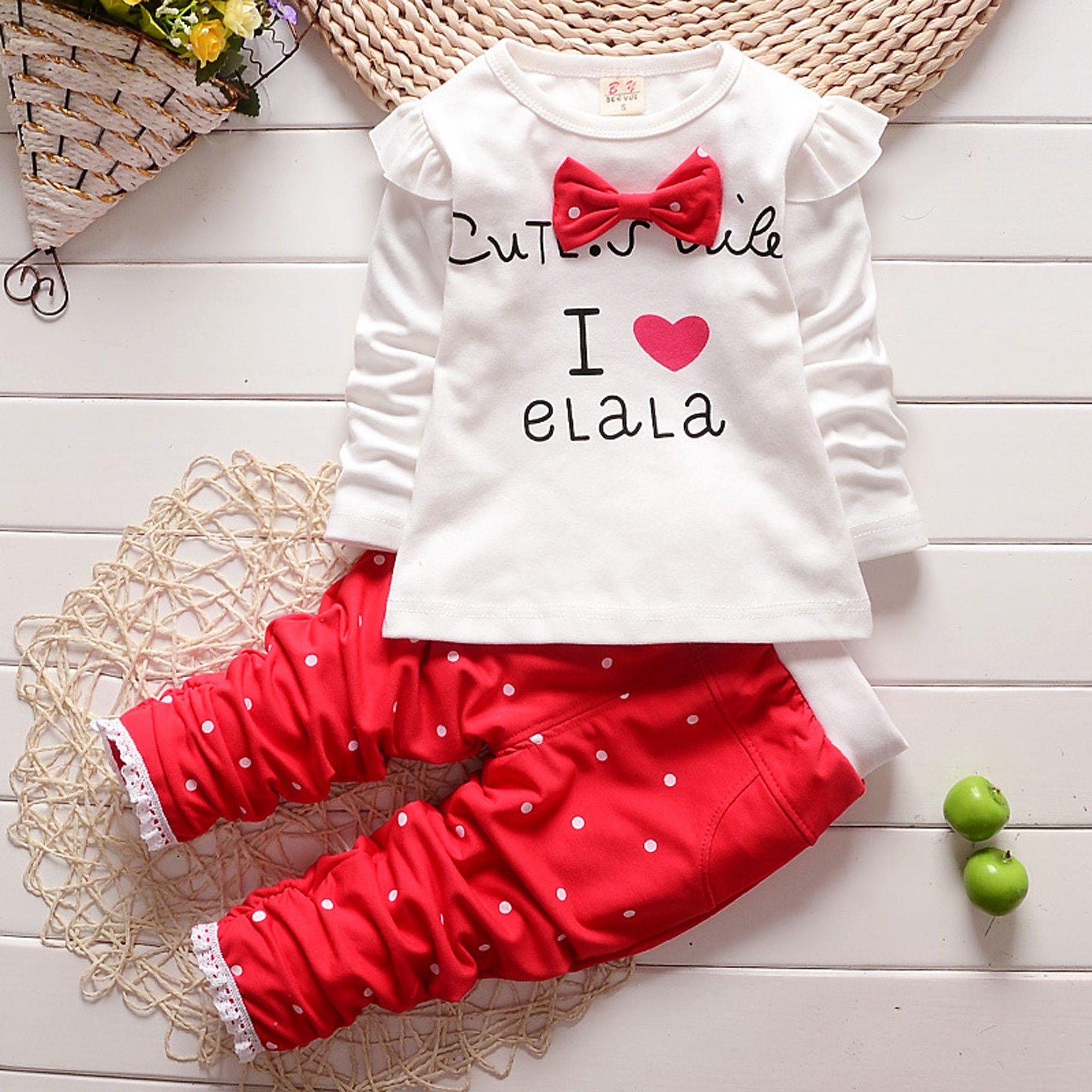 Aww Hunnie Red Cotton Printed Top & Bottom Set AwwHunnie Red