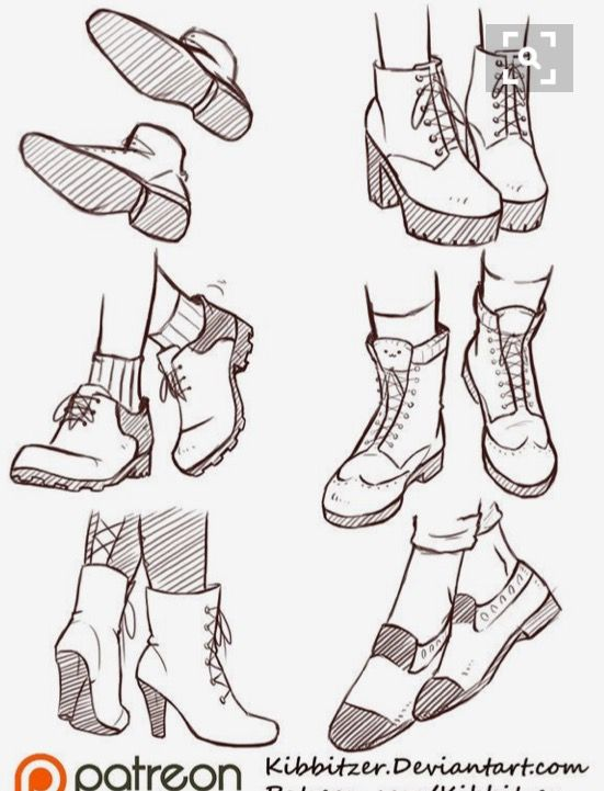 Shoe Reference Sketches Art Sketches Drawings