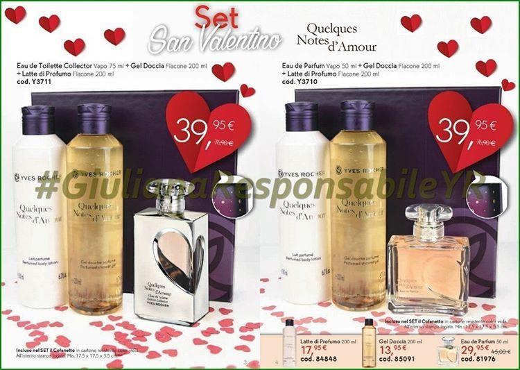 ❤️ Speciale #SanValentino ,🎁Idea Regalo, Set Eau De Toilette Collector + Gel Boccia + Latte di Profumo, #QuelquesNotesdAmour. A partire da 39,95€ #YvesRocherItalia #Album1 #GiulianaResponsabileYR #ValentineDay