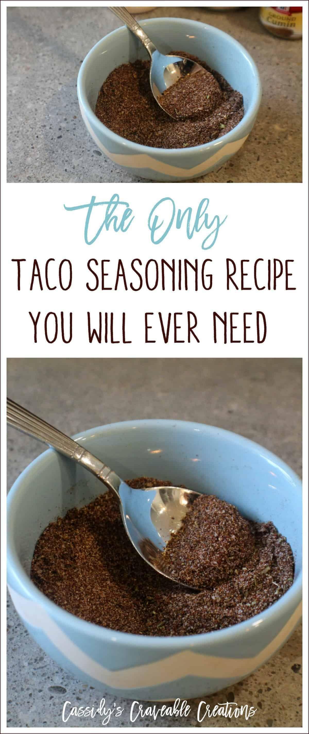 Homemade Taco Seasoning {Whole30, Paleo, Keto, & Gluten