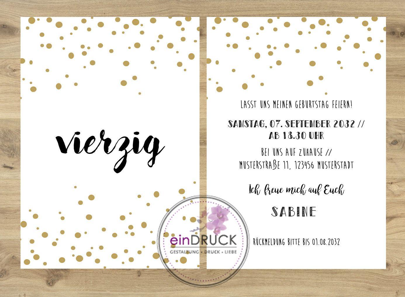 Einladung Zum Geburtstag Geburtstagseinladung Einladung