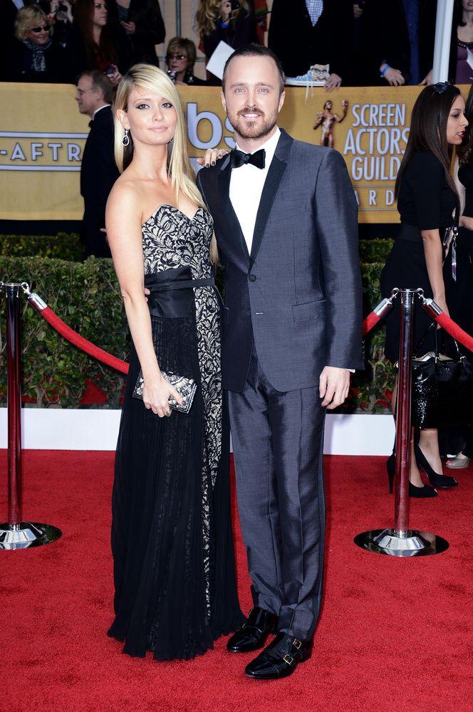Aaron Paul & Laura Parsekian, SAG Awards 2013 Red Carpet