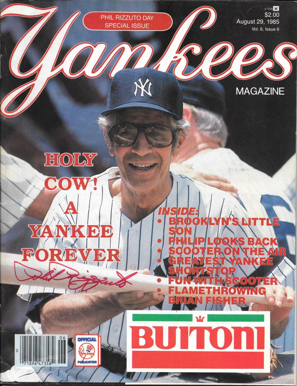 Ny Yankee Hall Of Famer Phil Rizzuto Signed Yankee Magazine 8 29 85 Best Offers Bonus Phil Rizzuto Sports Magazine Chicago Cubs Baseball