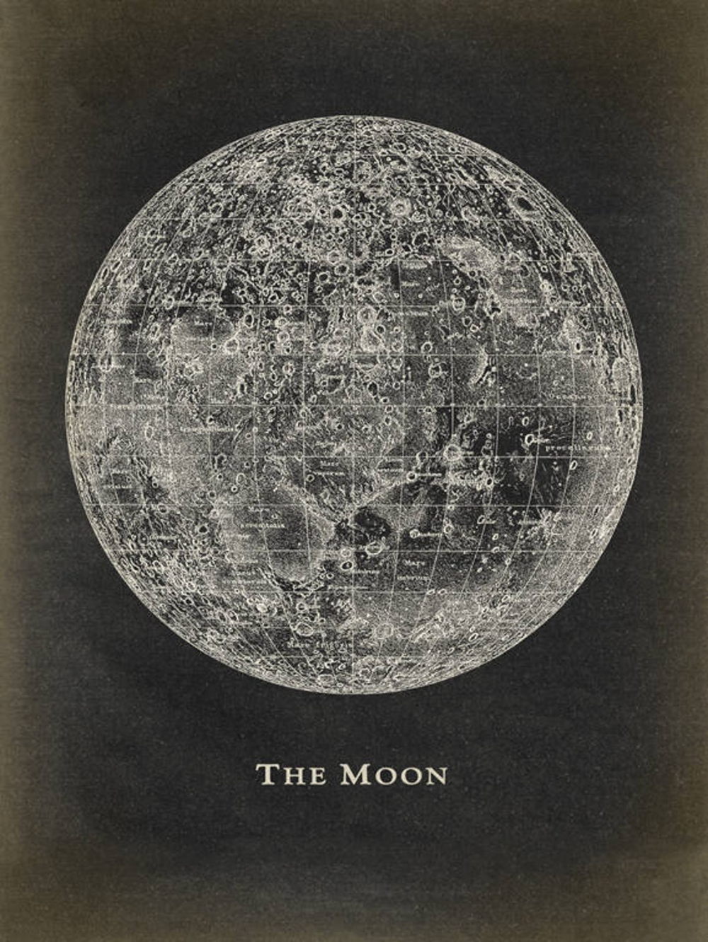 Moon Poster Art Print Astronomy Decor Astronomy Poster Celestial Wall Art Dorm Wall Decor Lunar Moon Craters Fast Track Shipping Astronomy Poster Vintage Astronomy Prints Moon Poster