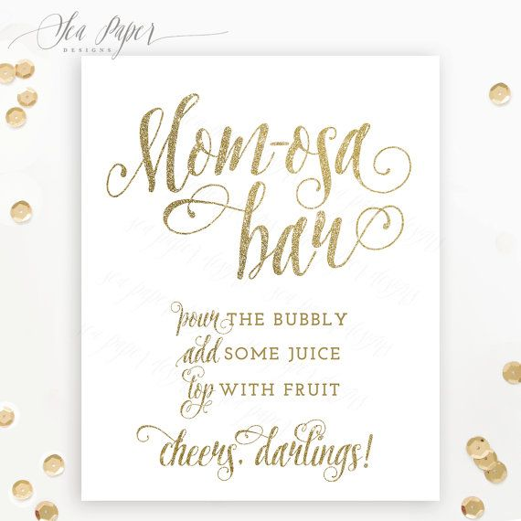 Mom Osa Bar Sign Baby Shower Mimosa Bar Sign Printable White Gold Glitter Champagne Bar Bubbl Bridal Shower Signs Mimosa Bar Sign Bridal Shower Brunch