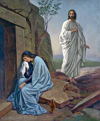 John 20: Jesus and Mary at the Tomb | Jesus, Jesus resurrection, Mary magdalene and jesus