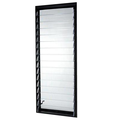Tafco Windows 23 In X 58 375 In Jalousie Utility Awning Aluminum Window In Bronze Louver Windows Glass Louvers Jalousie Window