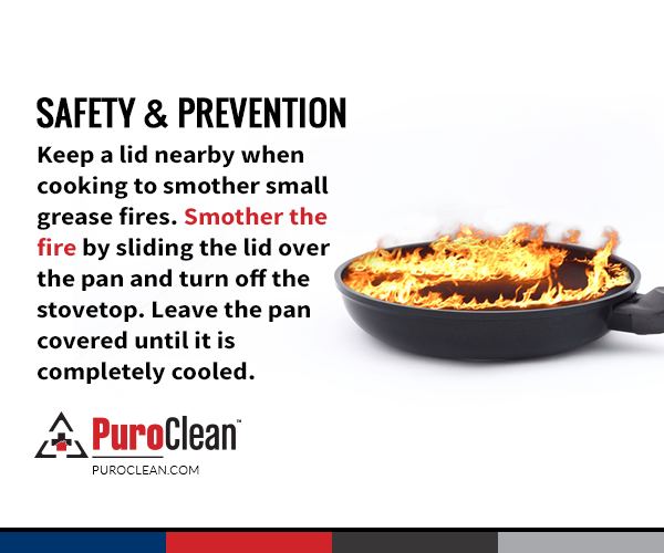 Safetyreminder Keep A Lid Nearby When Cooking To Smother Small Grease Fires Cookingsafety Firesafety Damage Restoration Mold Cleanup Cooking