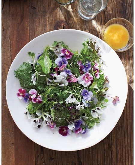 Green Salad with Edible Flowers from Martha Stewart