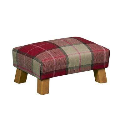 Helston Small Red Tartan Footstool Furniture The Range
