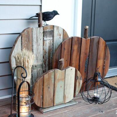 Craft A Rustic Pumpkin With Scrap Wood Pumpkin Fall Decor Fall Decor Diy Fall Diy
