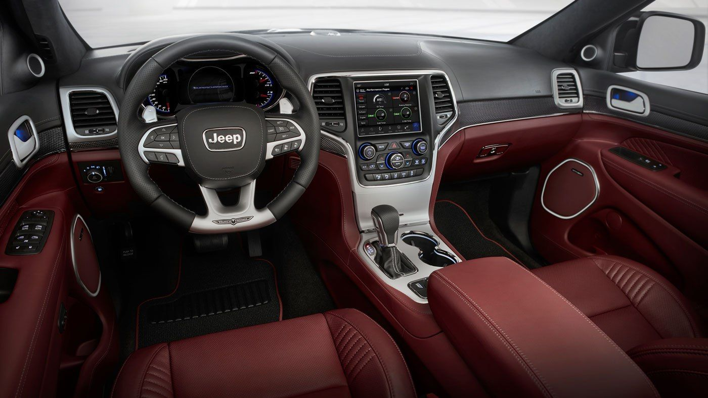 Why The Jeep Grand Cherokee Trackhawk Is An Incognito Torpedo Http Robbreport Com Motors C Jeep Grand Cherokee Srt Jeep Grand Cherokee Jeep Cherokee Interior
