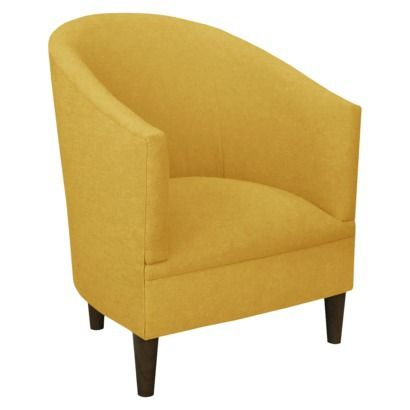 Gentil Custom Upholstered Tub Chair In LInen French Yellow | Target.com | $375