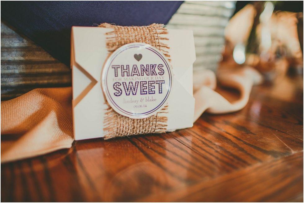Keepsake favor boxes designed for Blake & Lindsay's dessert bar.