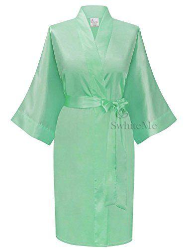 Swhiteme Women s Kimono Robe feb956ce4