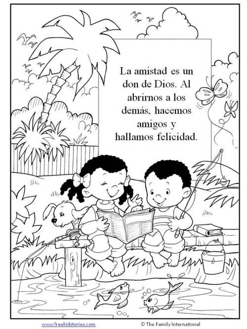 Amigos Paginas Para Pintar Actividades De La Escuela Dominical