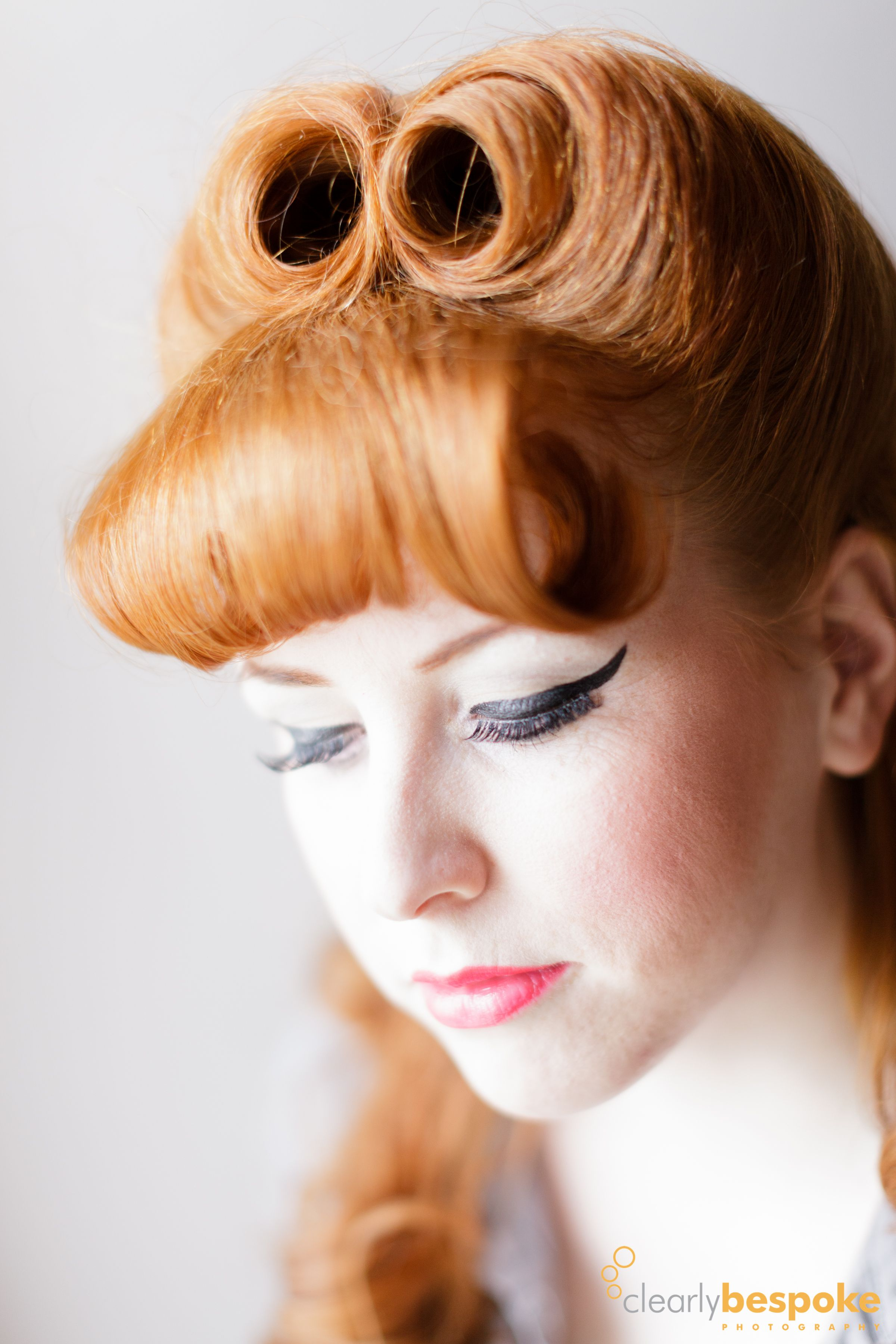 1940s make up and hair for redheads