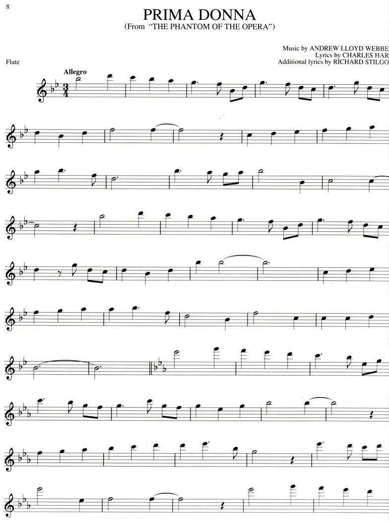 Free Online Flute Sheet Music The Phantom Of The Opera Flute