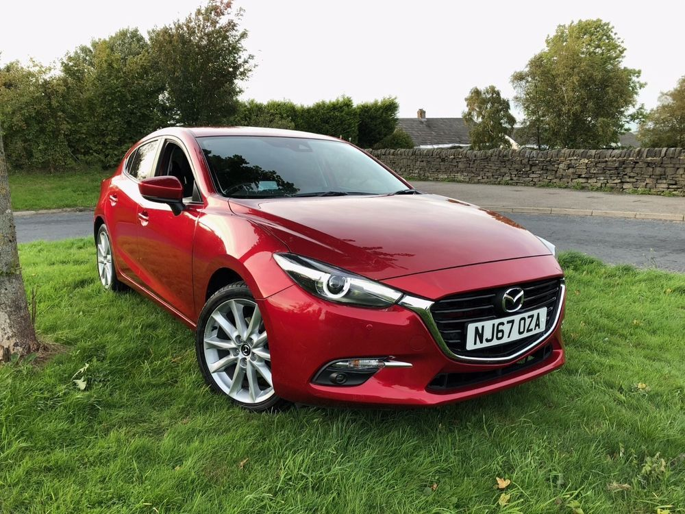 eBay 2017 67 REG MAZDA 3 SPORT NAV 2.0 PETROL RED MANUAL