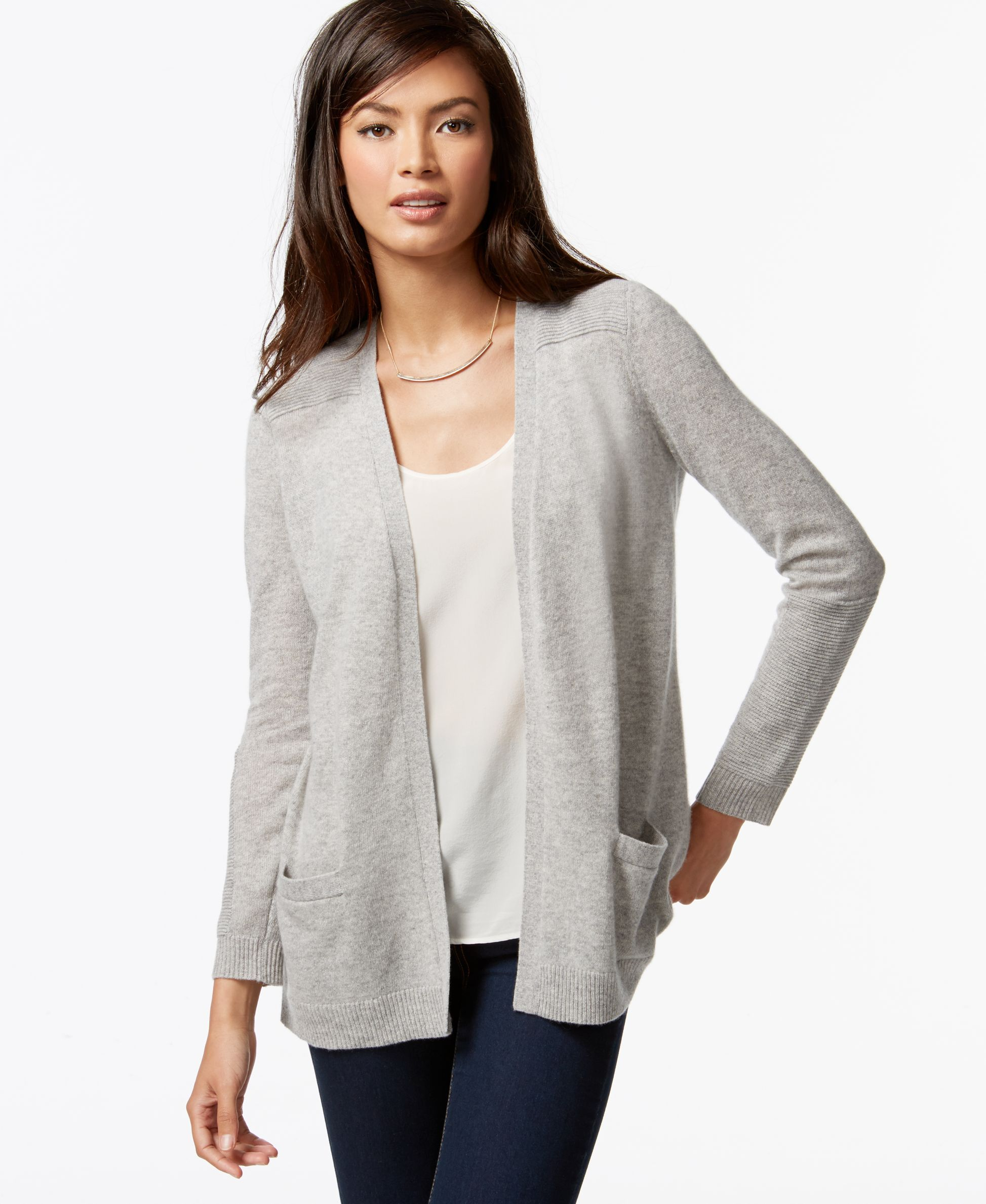 Charter Club Cashmere Open-Front Cardigan | Products | Pinterest ...