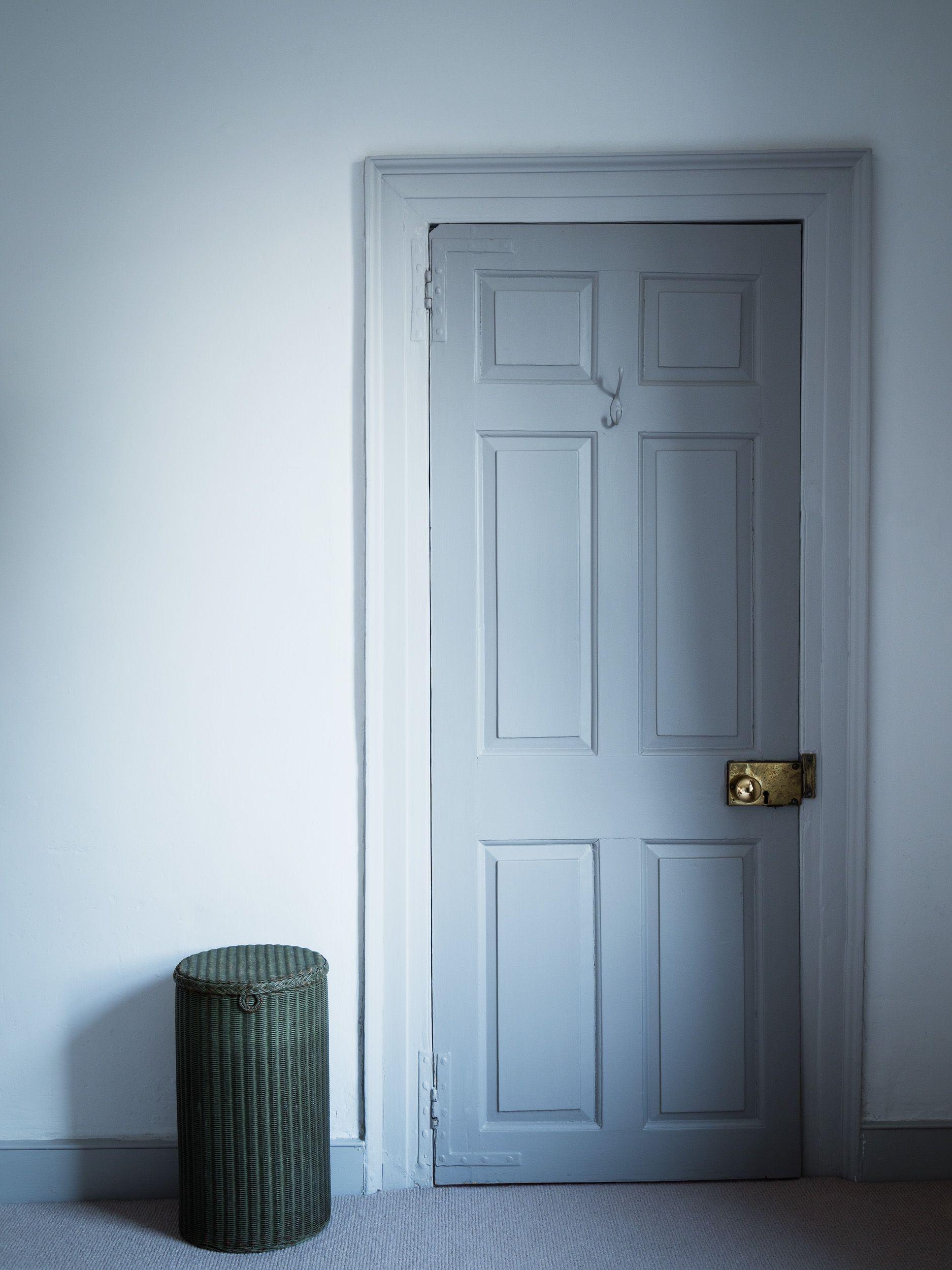 Master bedroom door design  Bedroom door with a Milagros laundry basket  Dorset Cottage Project