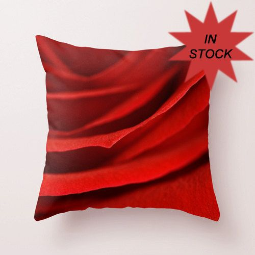 Rose Pillow Cover Red Decorative Throw Pillows For Bed Etsy Stunning Red Decorative Pillows For Bed