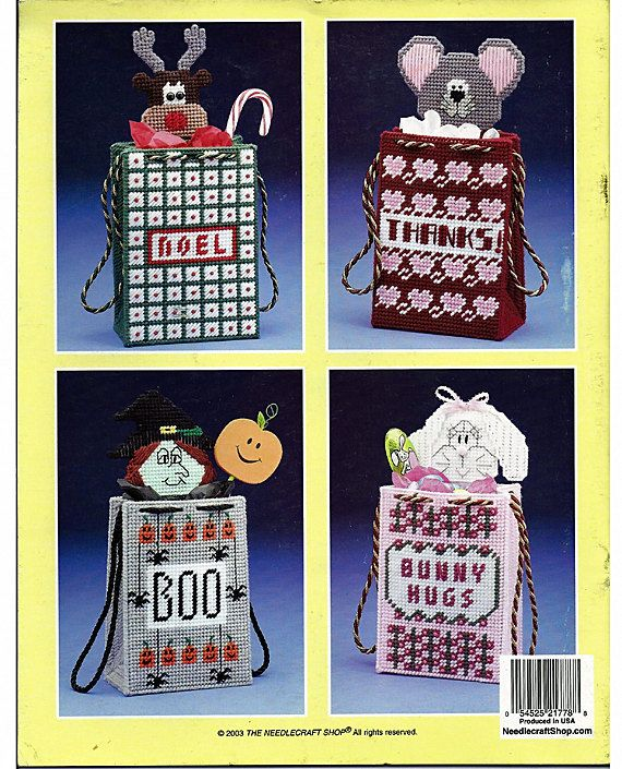 Special Occasion Gift Bags Plastic Canvas Patterns The Needlecraft