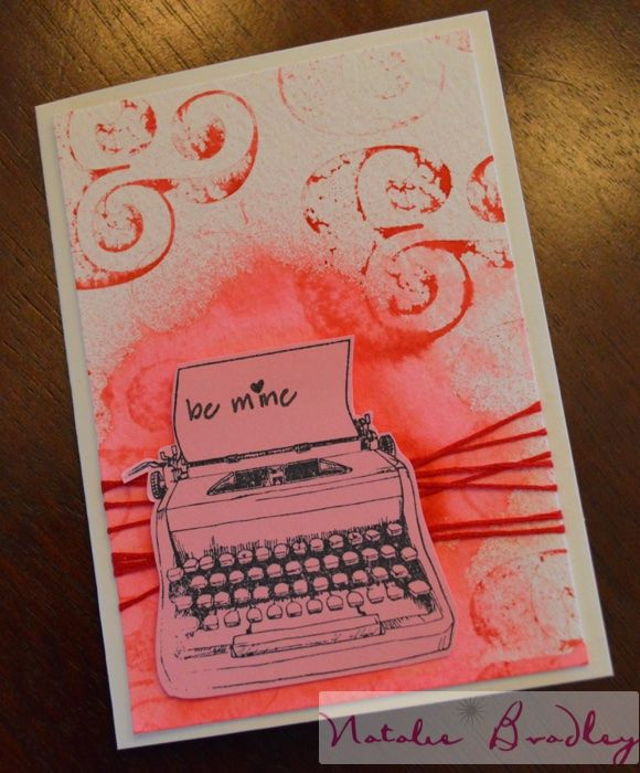 Watercolor Valentines Day Card natalie bradley valentine card