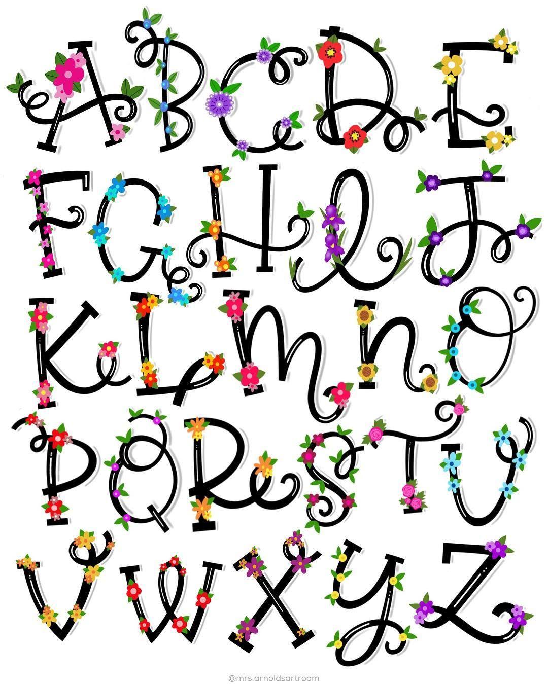 FONT FRENZY AZ Lettering alphabet, Hand lettering