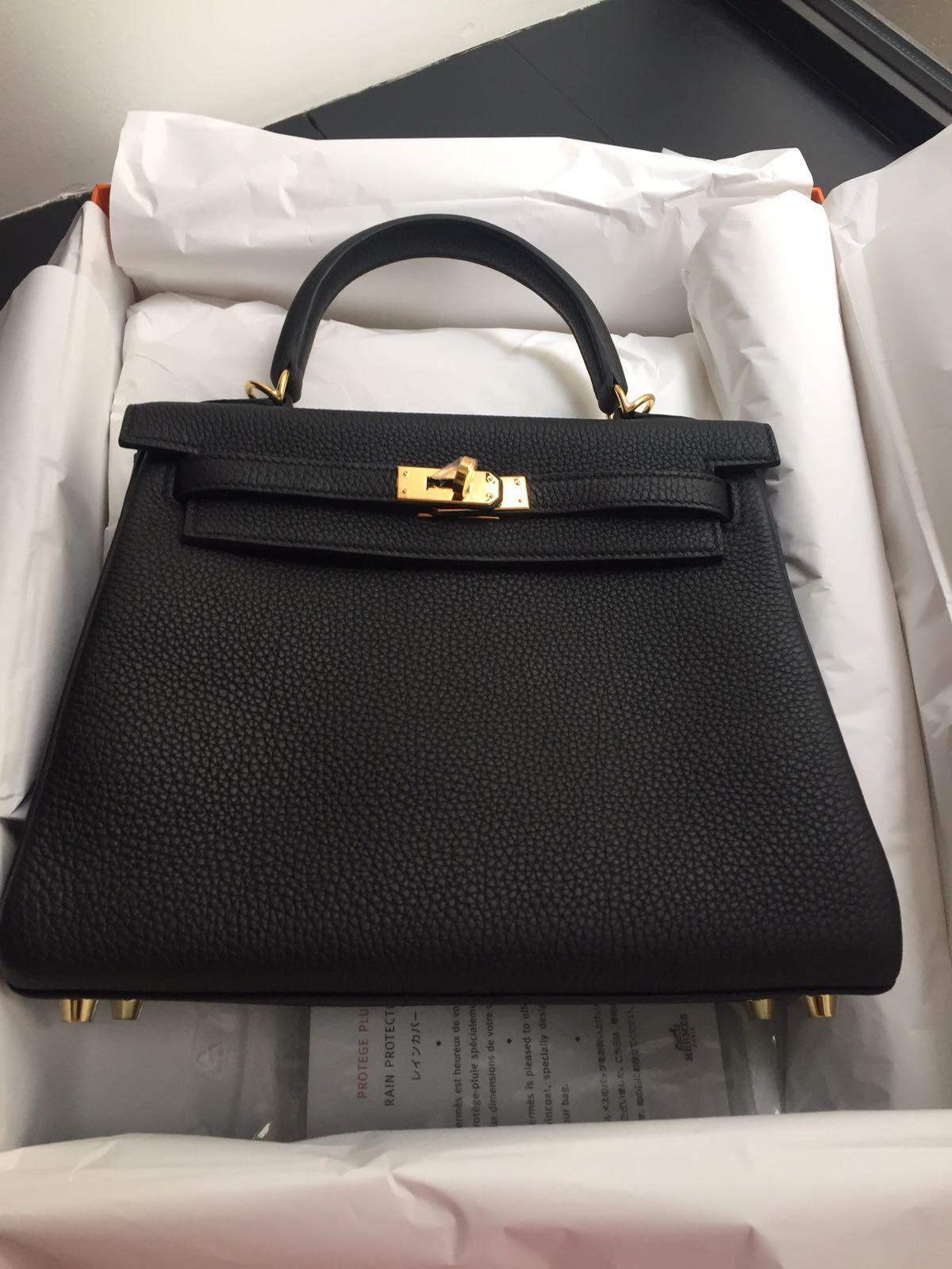 157aca6ff6bb Kelly 28 black togo gold hardware ( K28 black togo ghw )