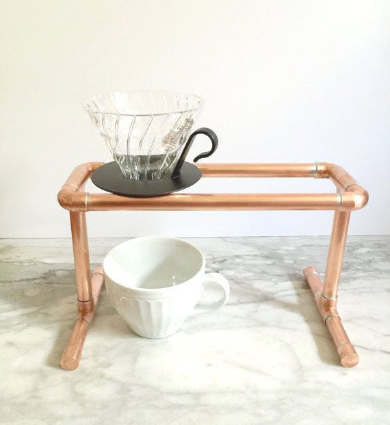 Coffee Stand, Copper Pipe Double Pour Over, Industrial Drip Coffee ...