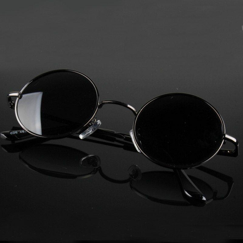 7252cd949b29d HTB1coLLRXXXXXaSXFXXq6xXFXXXj - 2017 fashion show style glasses real  Polarized sunglasses vintage sunglass round sunglasses UV400 Black