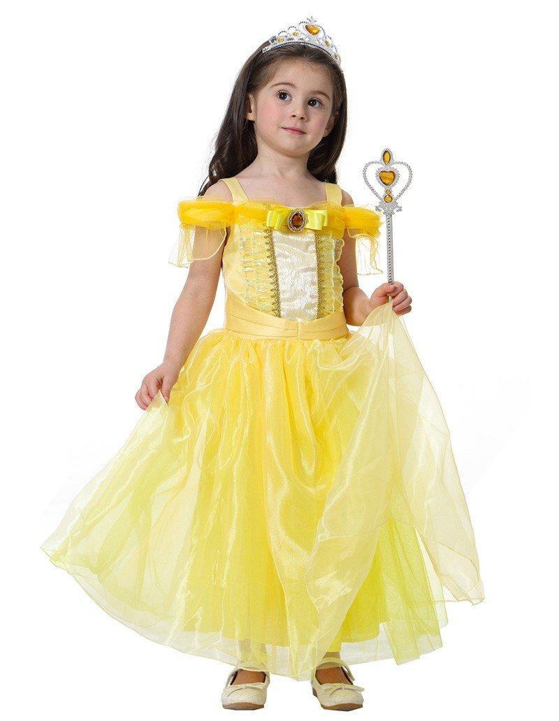 76400df012f Girls Aurora And Belle Princess Dress Kid Halloween Costume ...