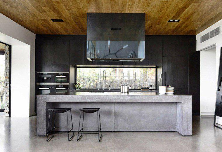 bton cir pour plan de travail de cuisine 25 ides modernes - Beton Cire Pour Plan De Travail Cuisine